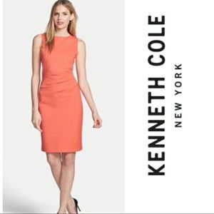 Kenneth Cole Coral Hillary Zip back Pencil Dress